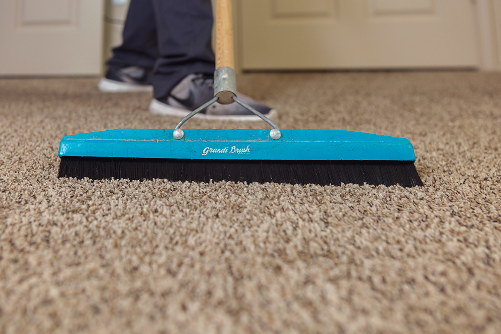 Our Technicians Will First Pre Vacuum The Area Removing Any Excess Dry Soil We Then Lay Down Pretreatment And Agitate This Into Carpet To